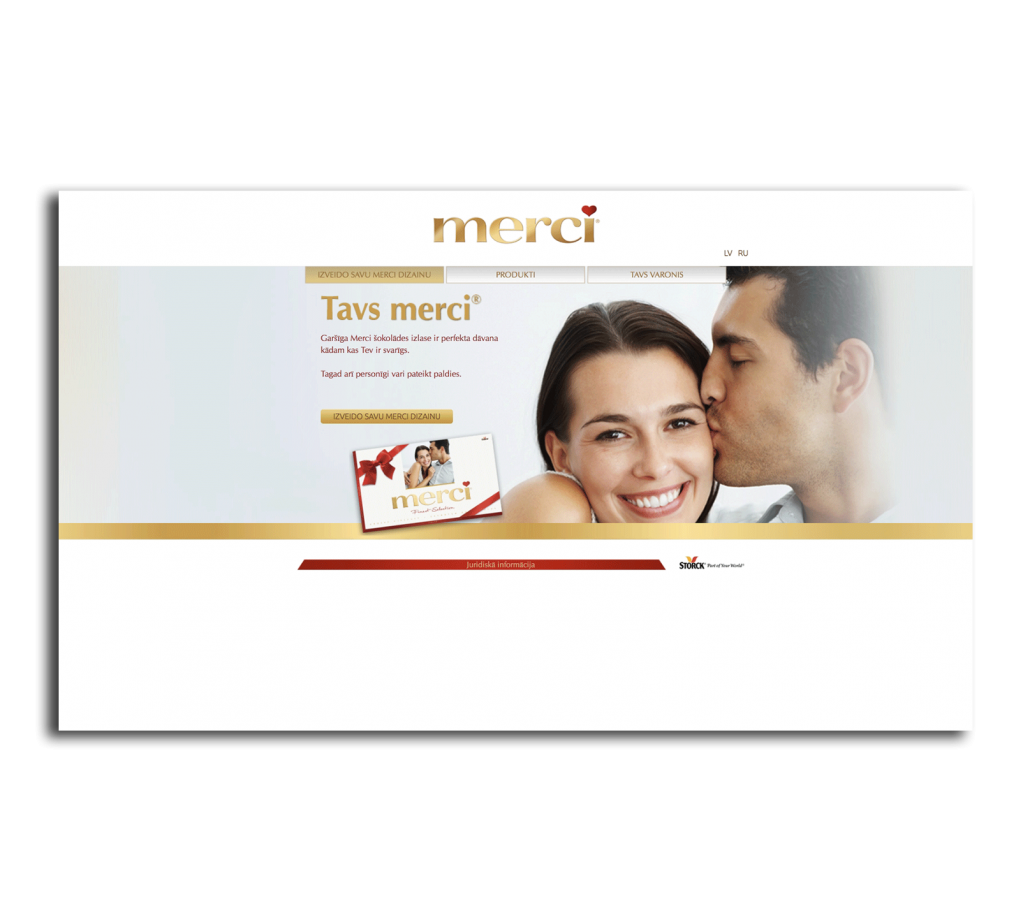 Создание сайта визитки для новой продуктовой линии