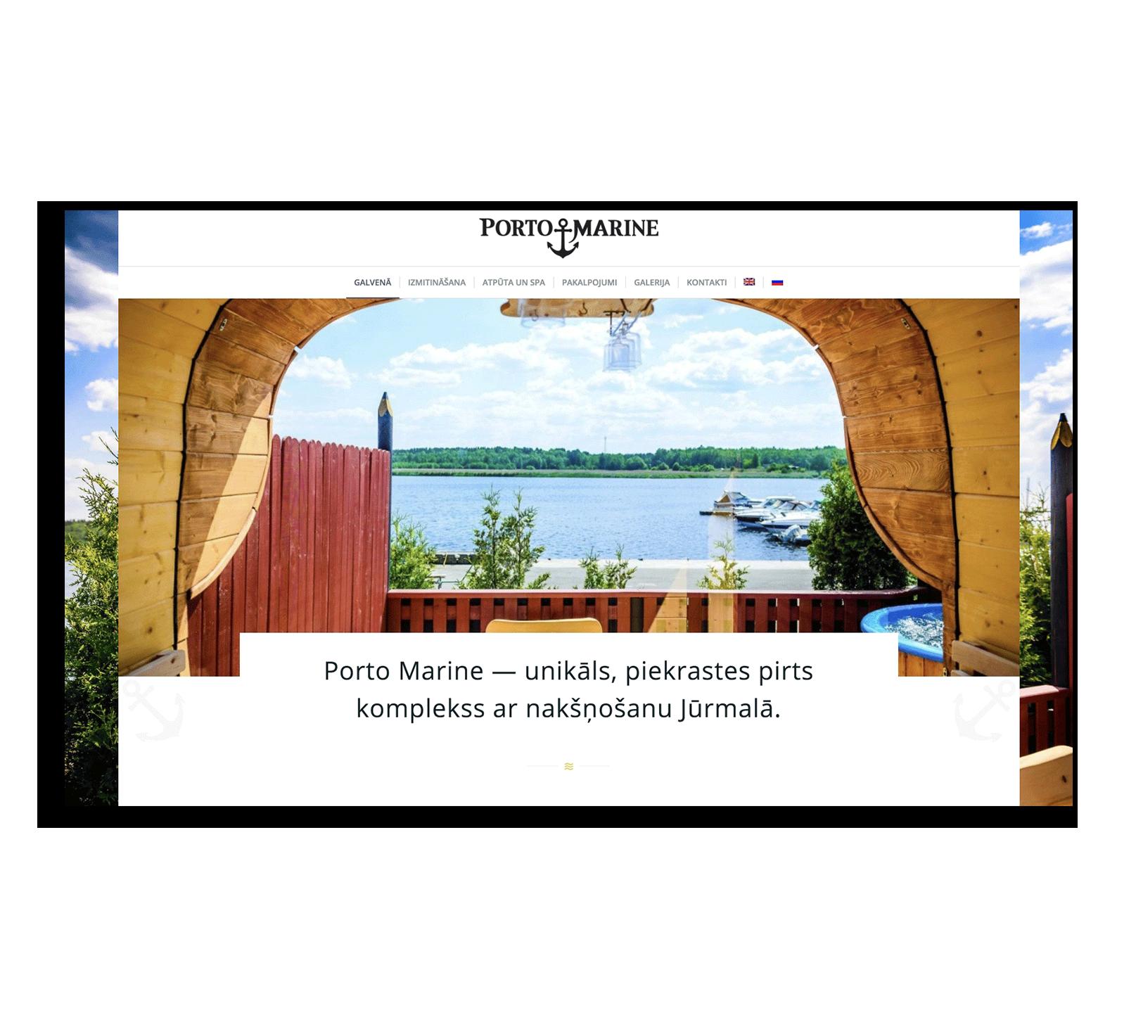Разработка сайта на WordPress для банного комплекса в Юрмале