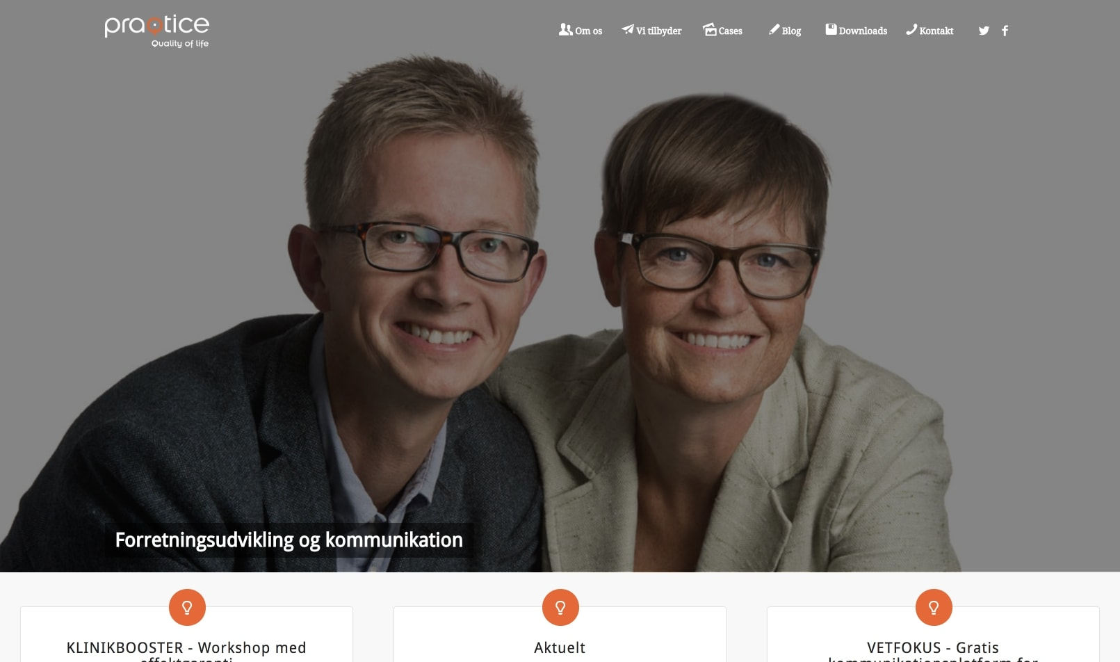 Корпоративный сайт для датской консалтинговой компании