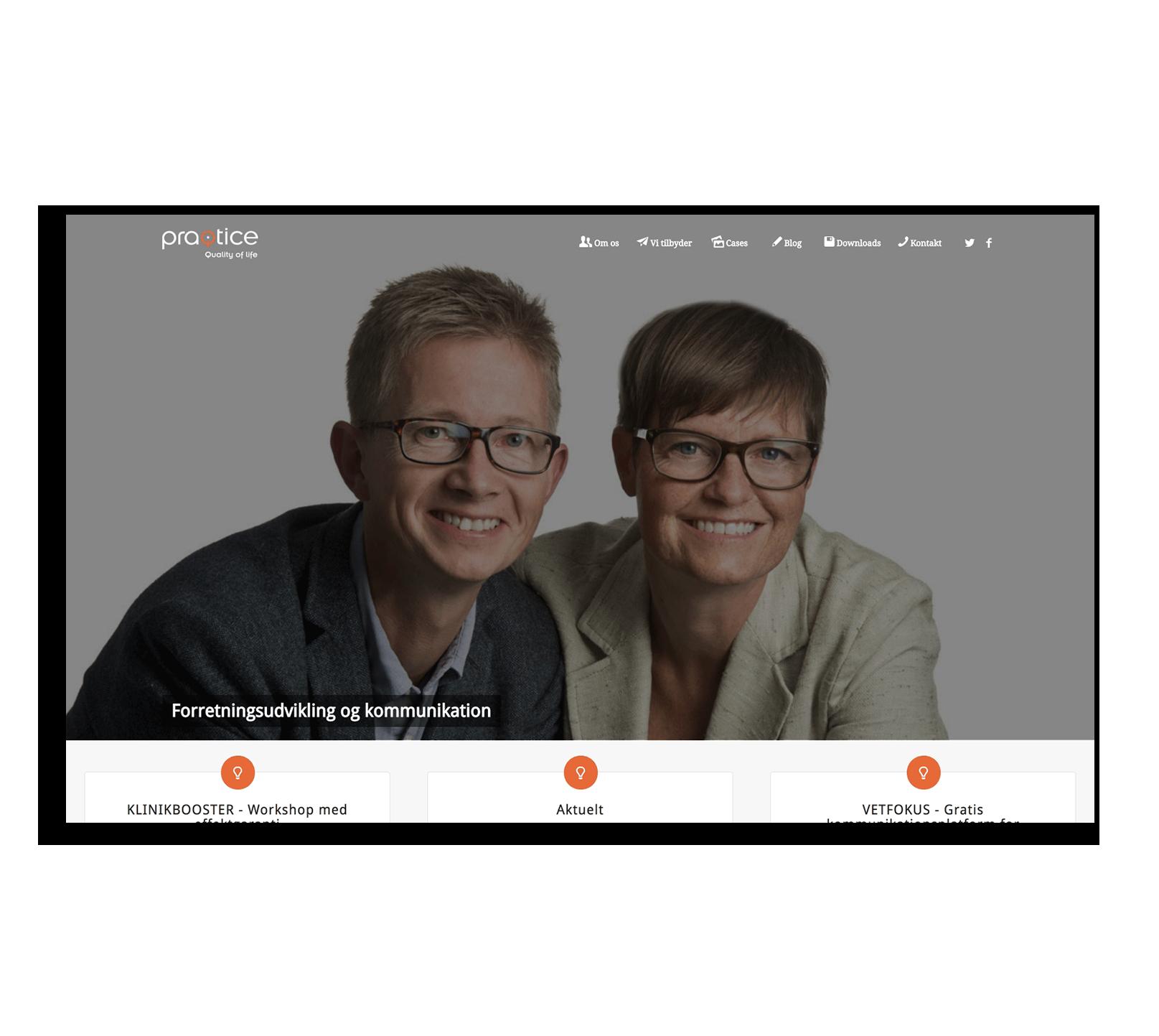 Разработка корпоративного сайта для Датской консалтинговой компании