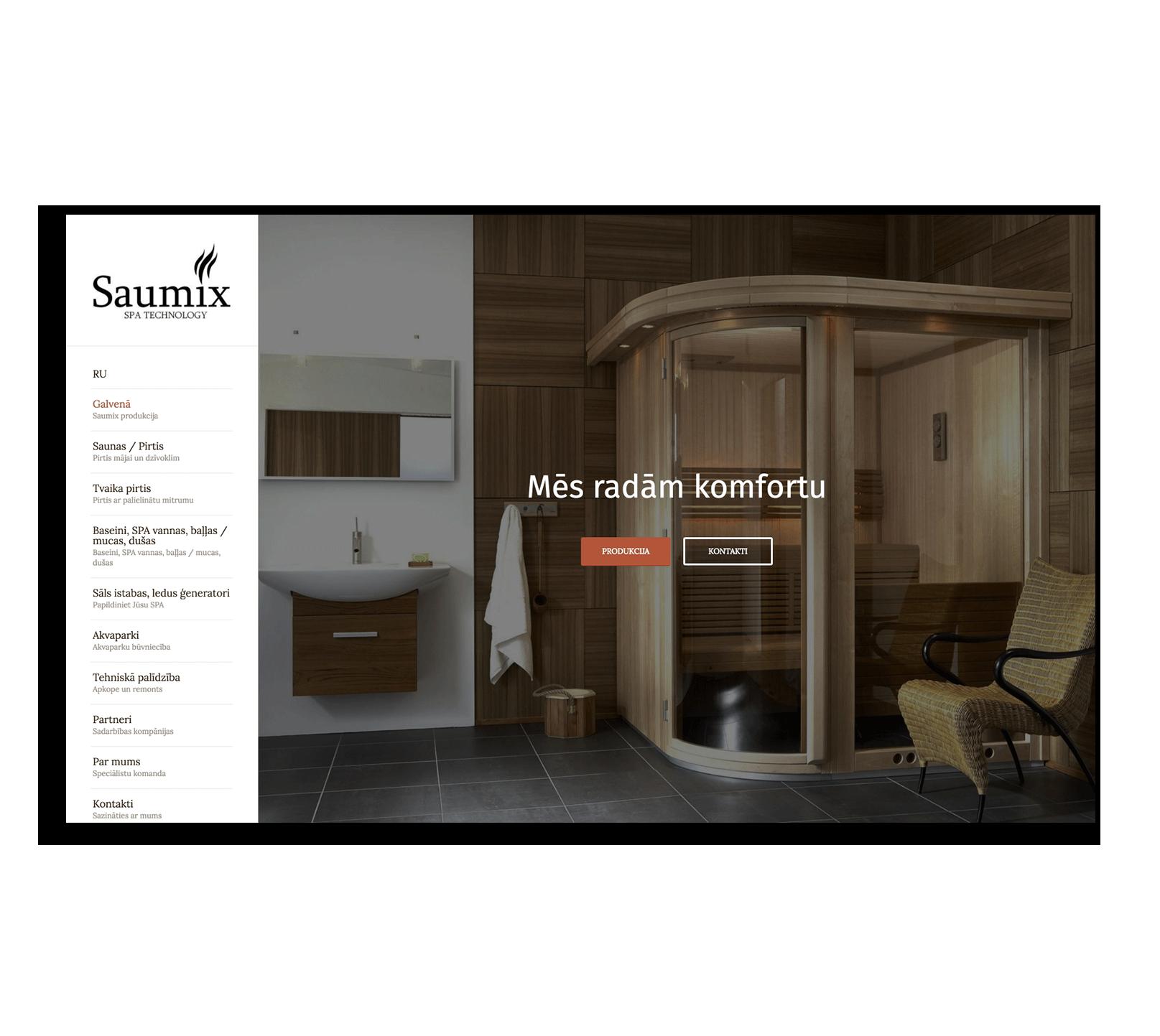 Разработка корпоративного сайта для компании предлагающей комплексные решения по созданию бань и Spa центров