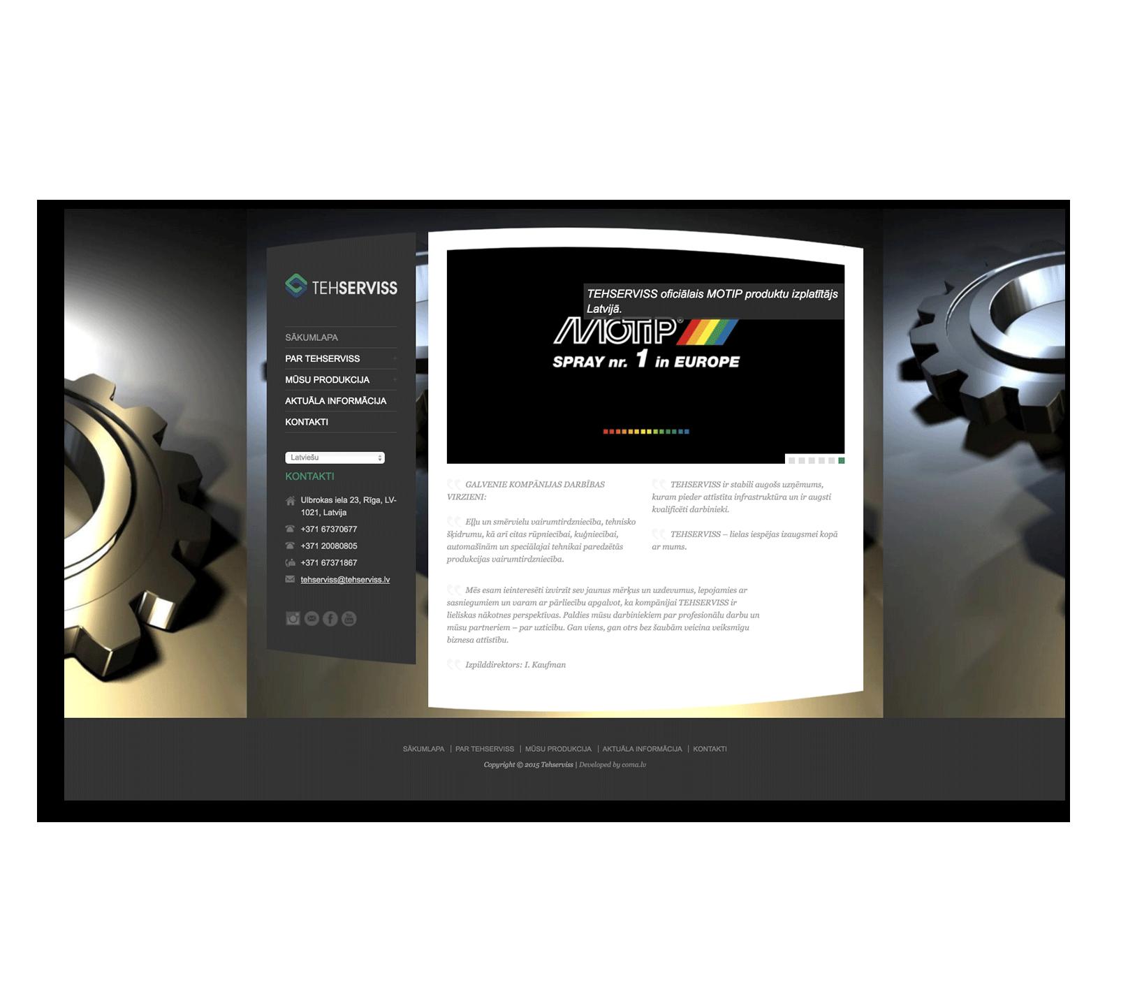 Создание корпоративного сайта для дистрибьютора смазочных материалов