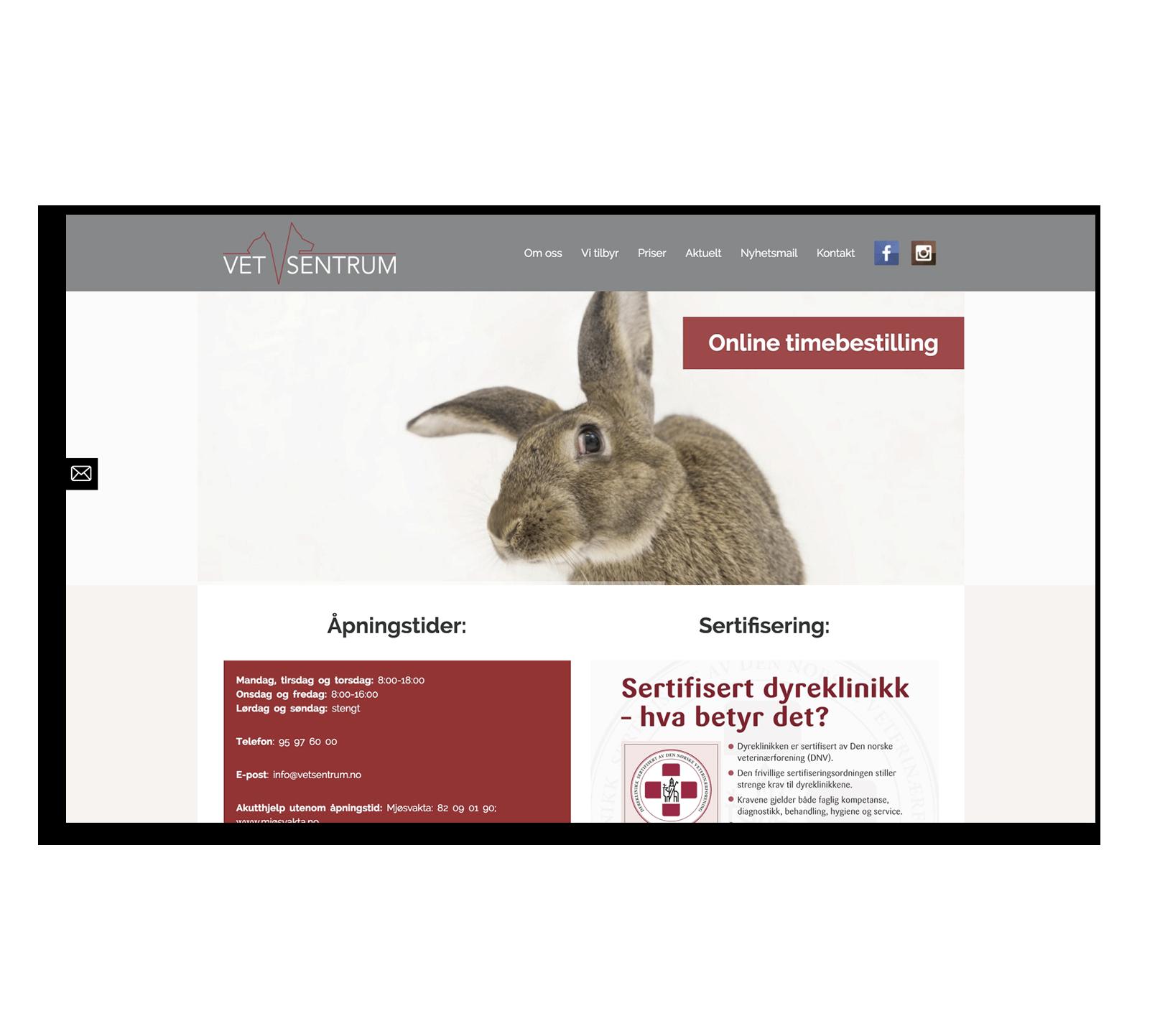 Создание сайта для норвежской ветеринарной клиники
