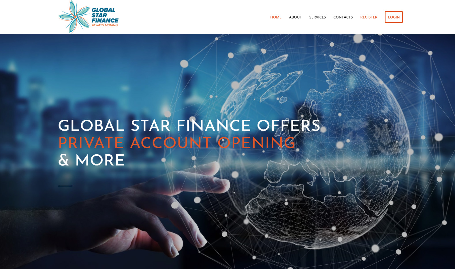 создание сайта для финансовой компании GSF
