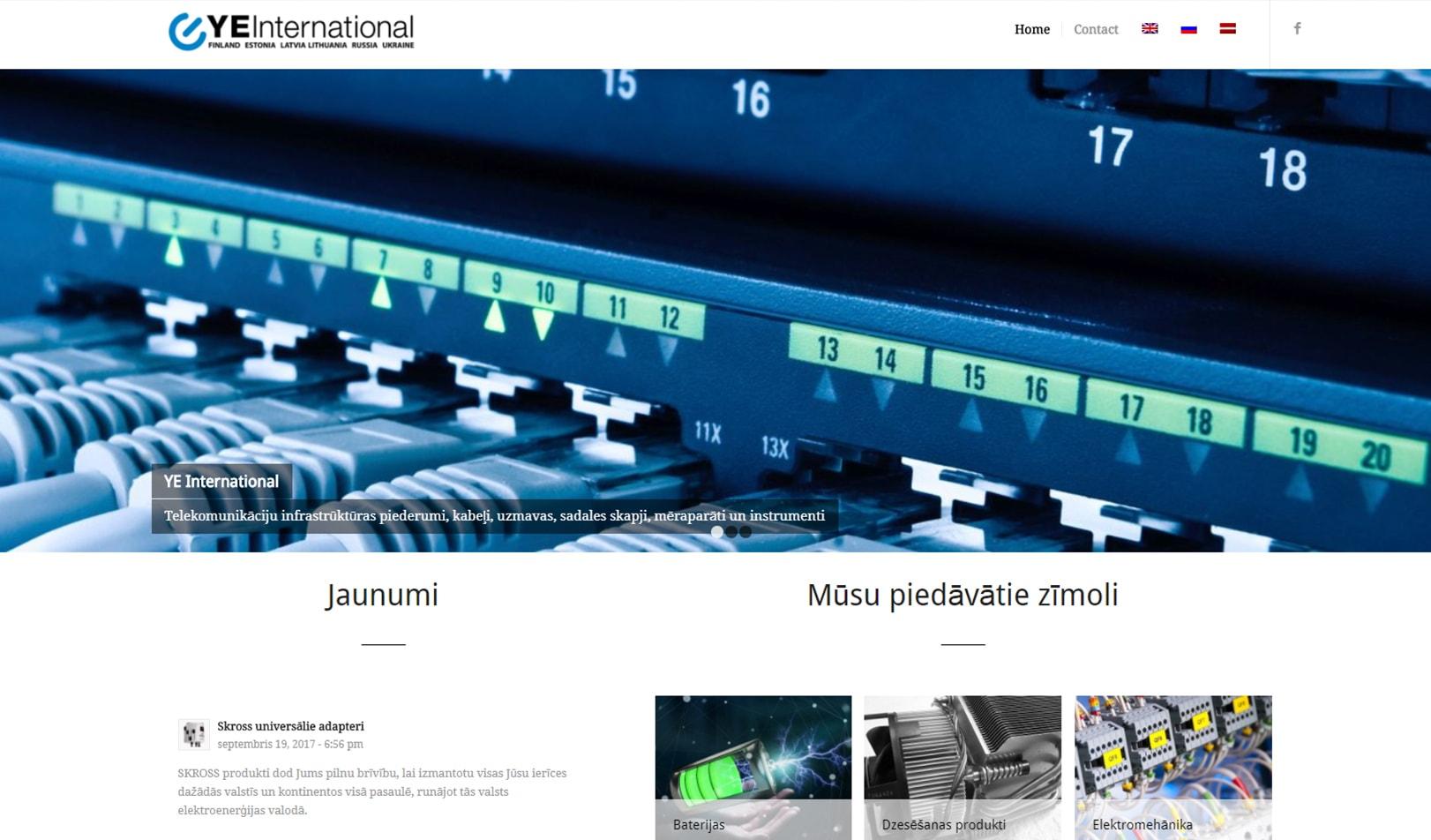 Корпоративный сайт для дистрибьютора электрооборудования