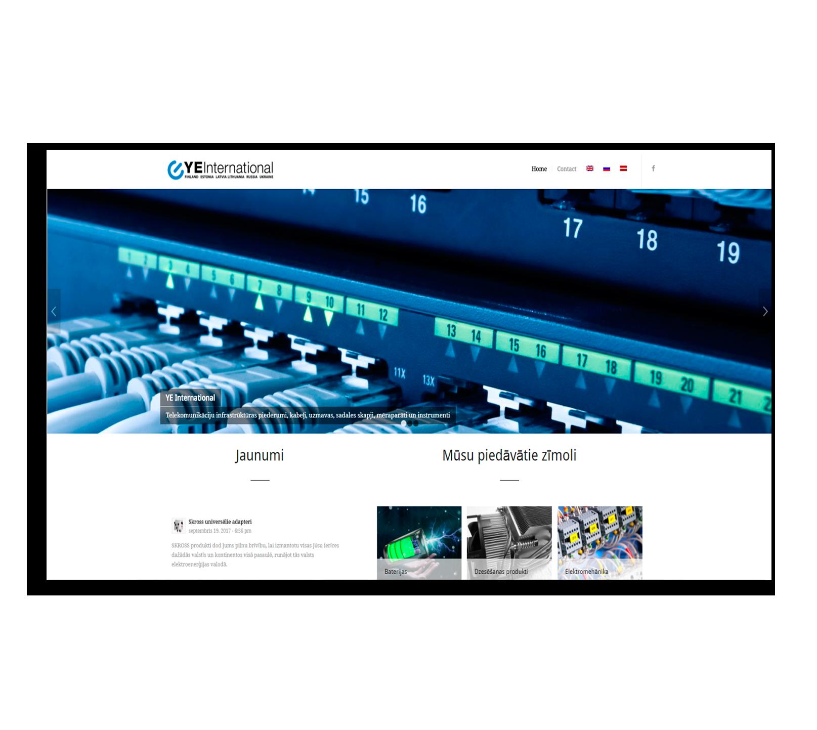 Сайт для дистрибьютора электрооборудования