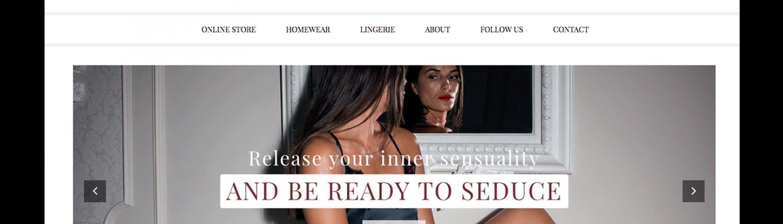 Создание сайта для магазина нижнего белья Nonpareil