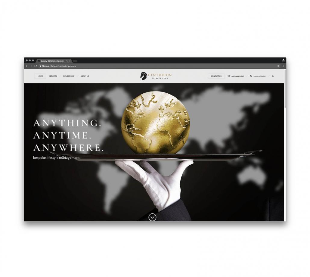 Корпоративный сайт для сервиса консьерж услуг