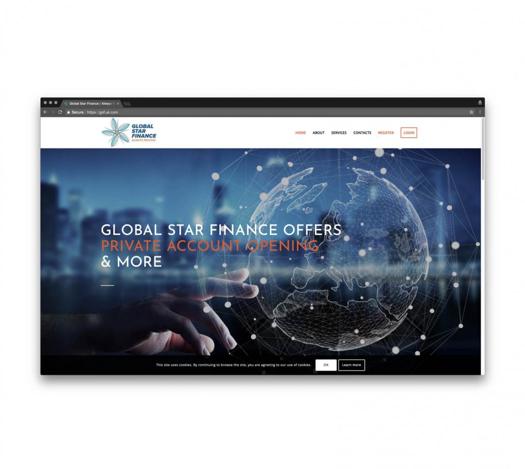 сайт визитка для финансовой компании