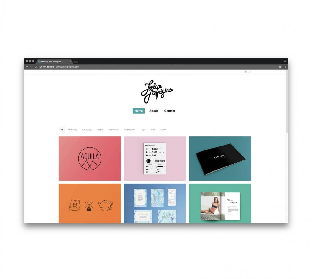 Сайт визитка для графического дизайнера