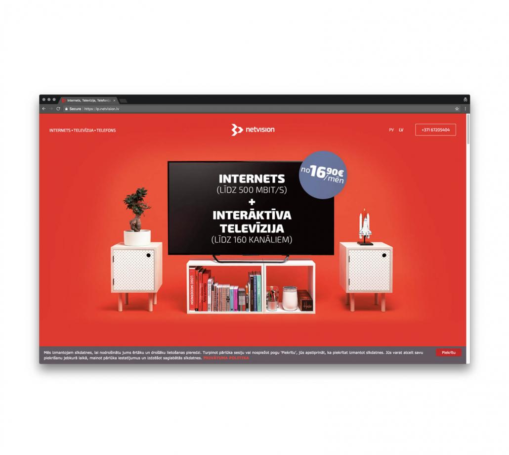 Сайт визитка для телекоммуникационной компании