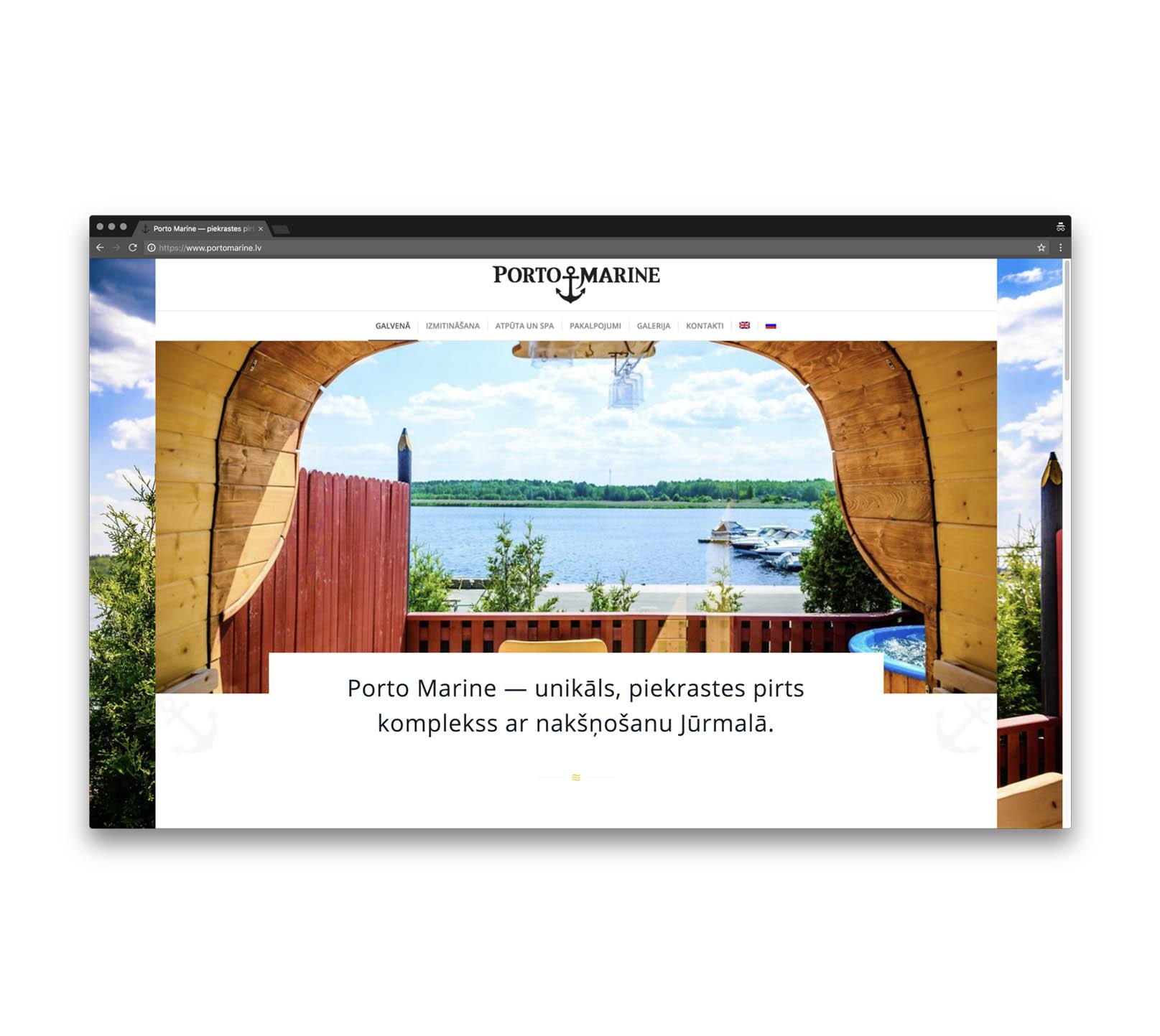 Корпоративный сайт для банного комплекса в Юрмале