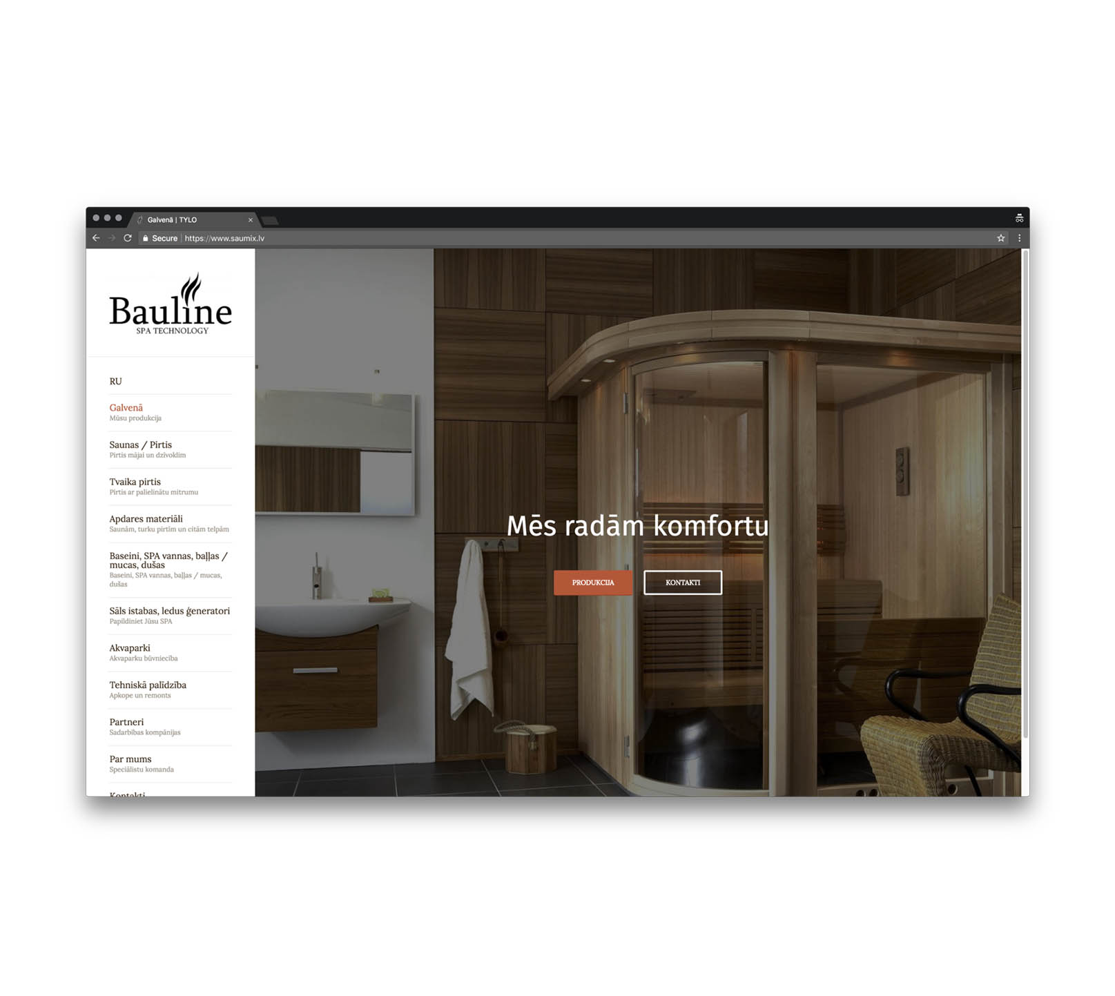 Корпоративный сайт для Saumix