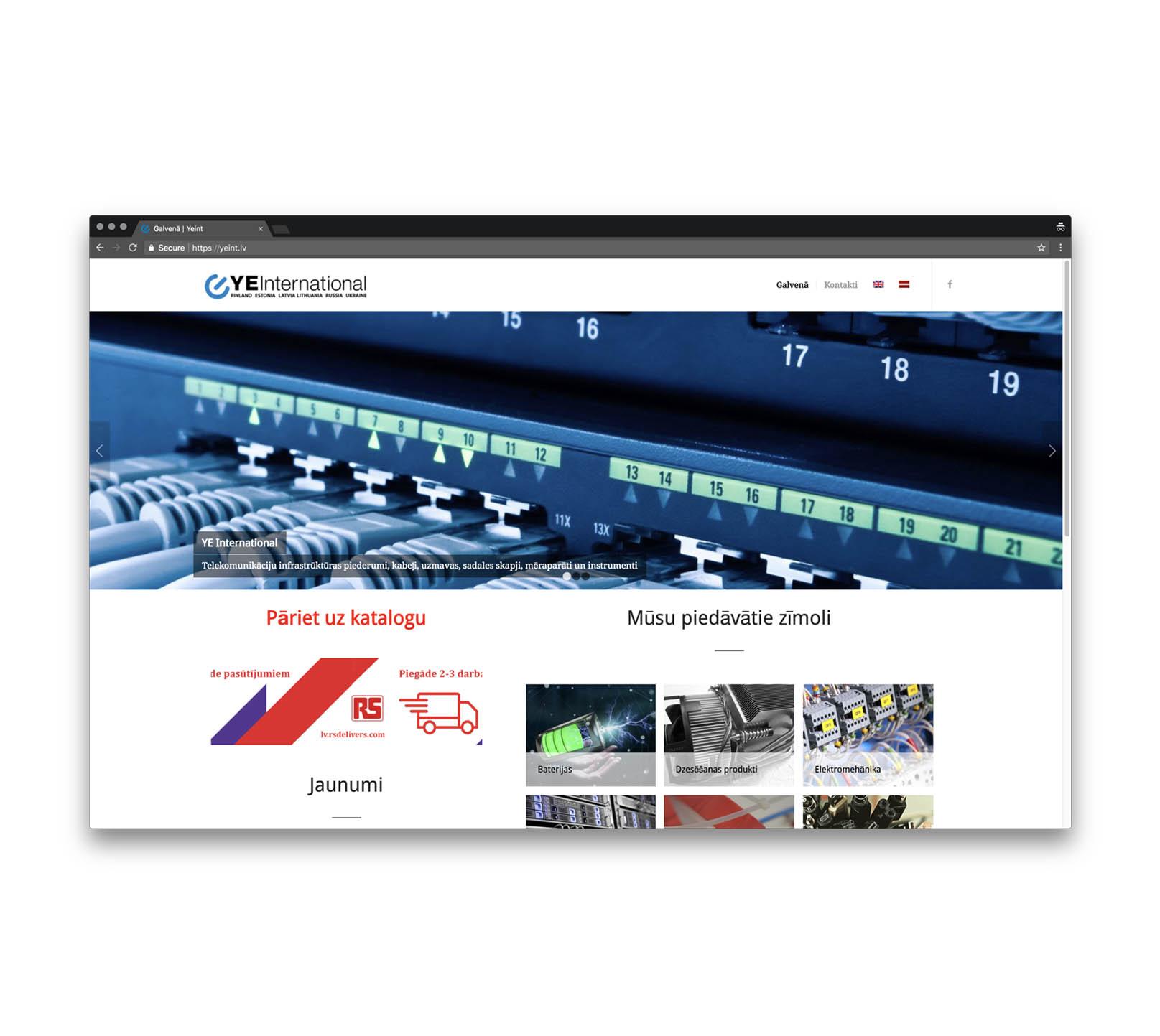 Корпоративный сайт для дистрибьютора электро-оборудования
