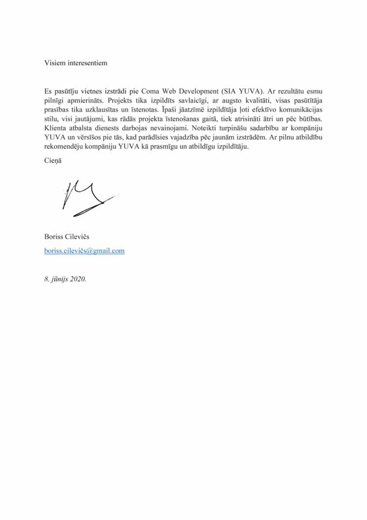 Boriss Cilevich review